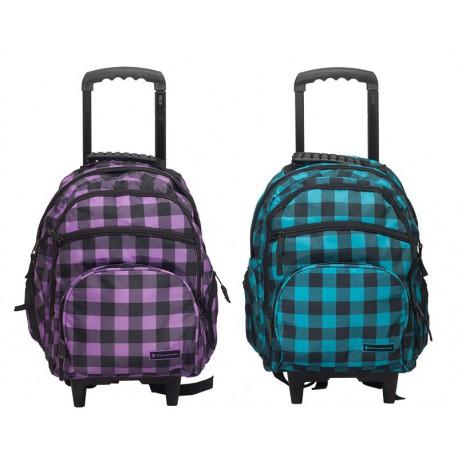 Plecak na kółkach Snowball model18342 NIEBIESKO - CZARNY