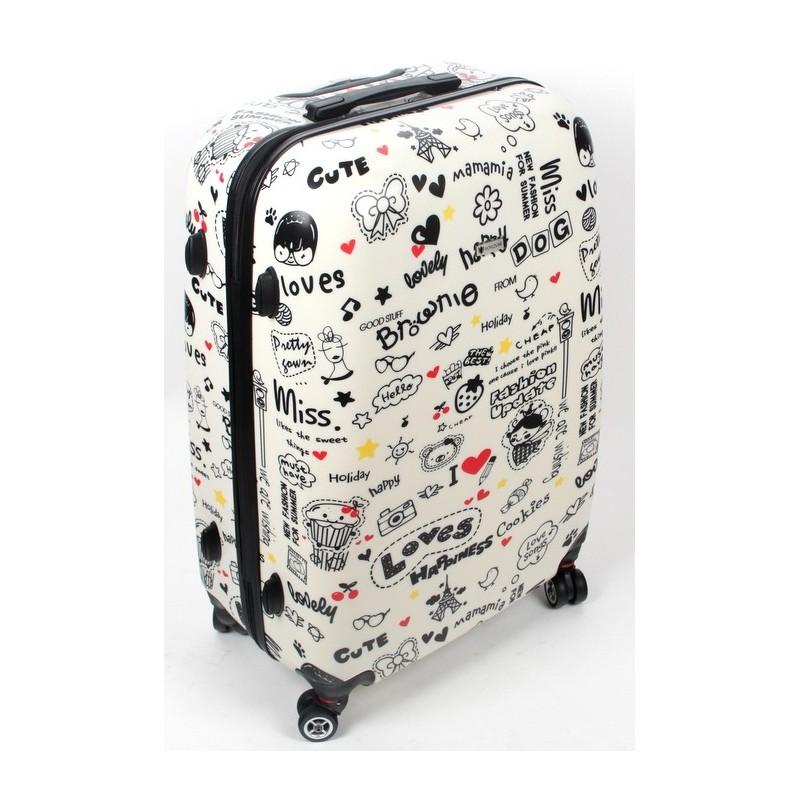 e504e9b5de32f ŚREDNIA walizka - MODEL 808 PARIS LOVE WORLDLINE- LuxWalizki.pl