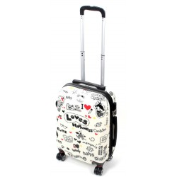 MAŁA walizka - LOVE PARIS MODEL 808 airtex