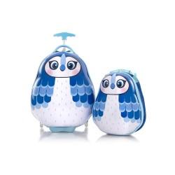 Walizka mała + plecak sowa blue HEYS canada