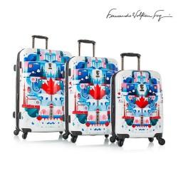 KOMPLET WALIZEK HEYS CANADA BLUE TRUE na 4 kółkach