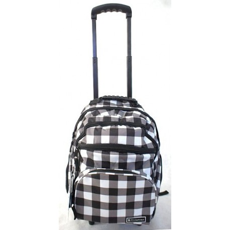 Plecak na kółkach Snowball model18342 BIAŁO - CZARNY