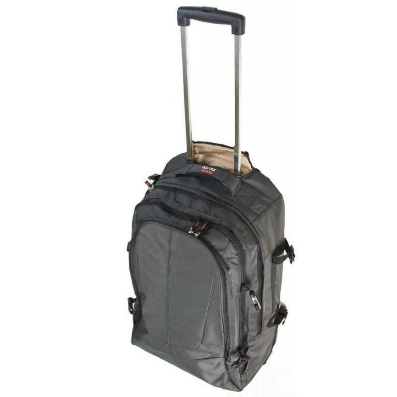 5e3b06e71b5a0 Plecak na kółkach AIRTEX model 560/2 CZARNY- LuxWalizki.pl