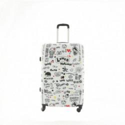 DUŻA walizka - MODEL 8102 PARIS BIAŁY